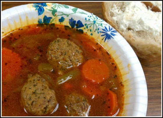 Italian Meatball Soup 2