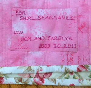 shirl's quilt label