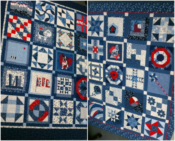 Everything Blue Quilts Collage