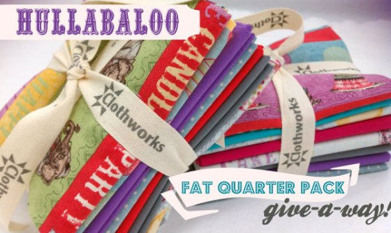 hullabaloo fat quarter pk giveaway
