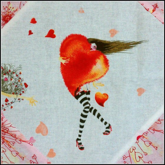 Masha Quilt Heart Girl