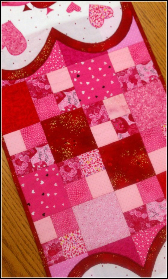 Vday Table Runner Patchwork
