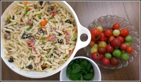 Pasta Salad Tomatoes Basil