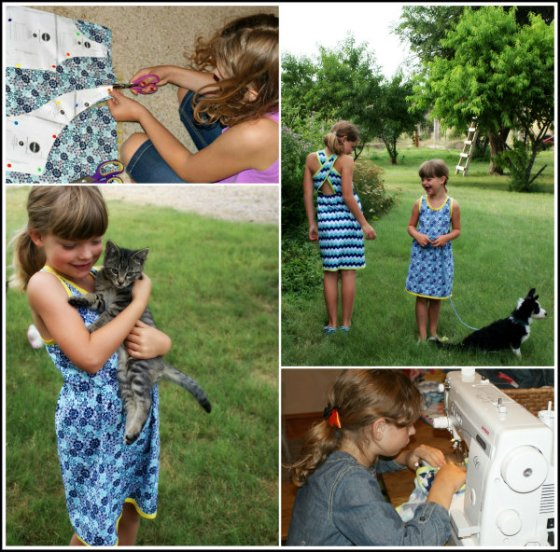 Sewing with Children Collage