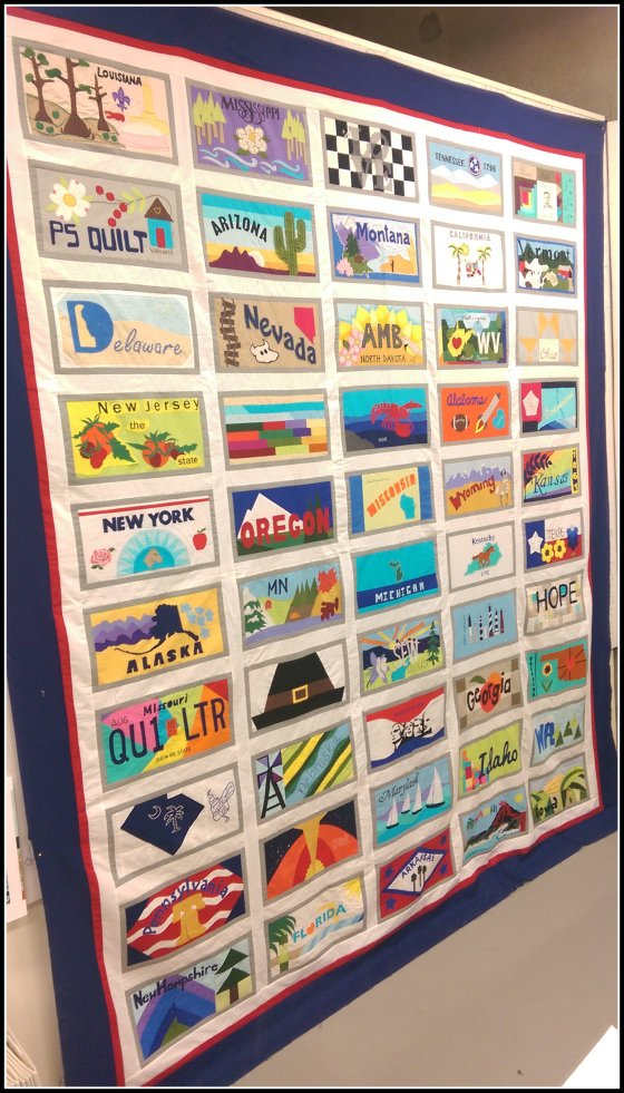 AMB license plate quilt
