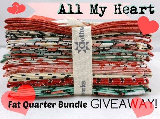 All my heart fat quarter bundle giveaway