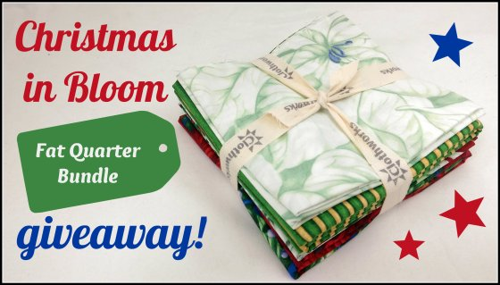Christmas in Bloom Giveaway FQ bundle