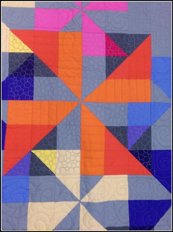 Pinwheel Jam Quilting Close Up