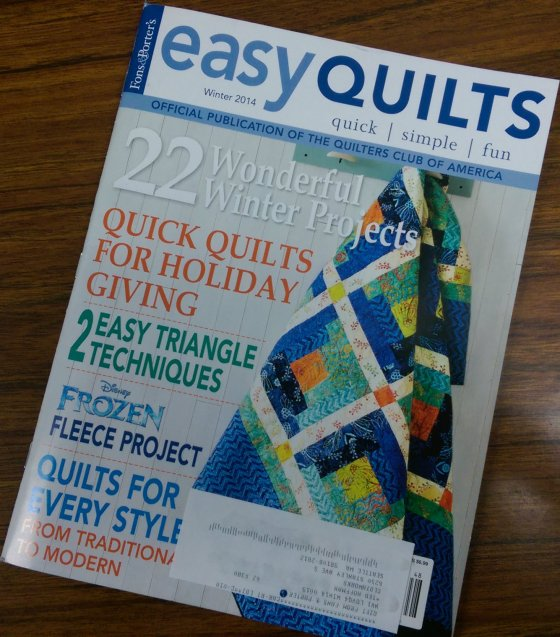 easy quilts cover winter 2014