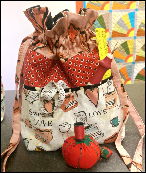 all my heart drawstring bag