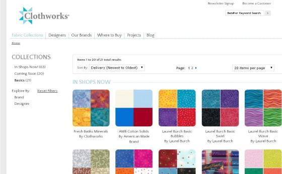 Clothworks fabrics | The Works