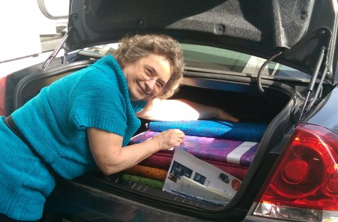 Beth- fabric in the trunk