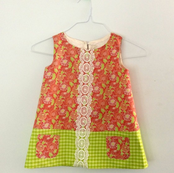 Stonewall Bloom & Unity fabrics work very well together in this simple pattern by Butterick.