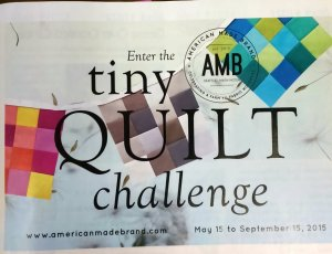 Tiny Quilt Challenge ad