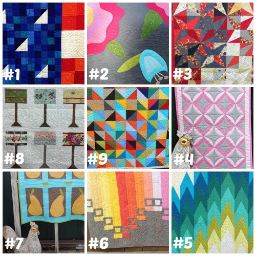 Quilt Market Sneak Peak collage with #s