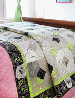 'Twist of Lime' quilt project  picture from Fons & Porter's Quilting Quickly Magazine May/June 2015