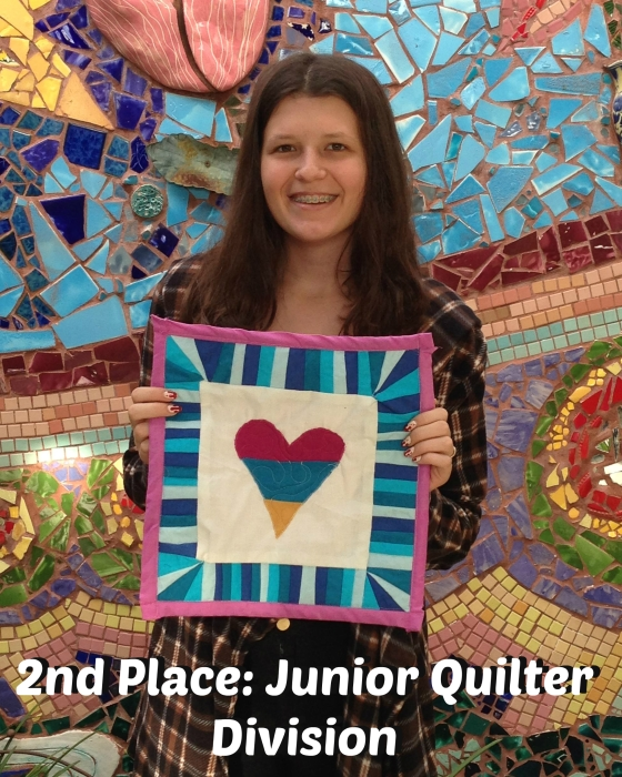 2nd place junior quilter division