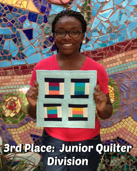 3rd place junior quilter