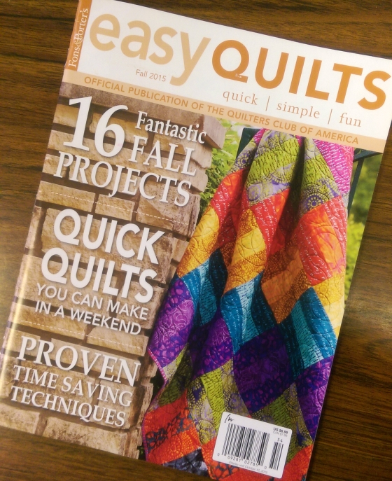 Easy Quilt Fall 2015 edition