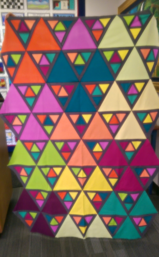 Patty's triangle quilt