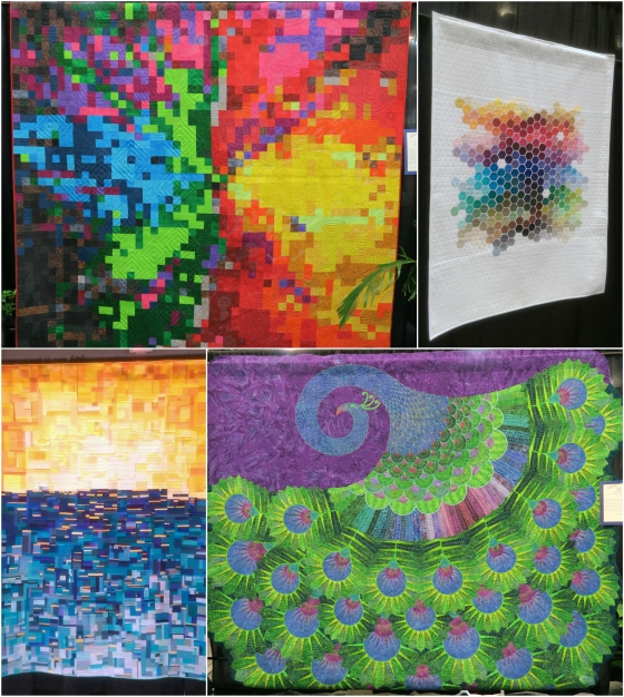 Colorful quilts Collage