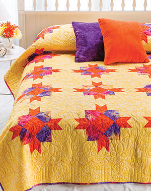 'Sunny Spring Sunrise' quilt picture from Quilter's World magazine Spring 2016 edition.