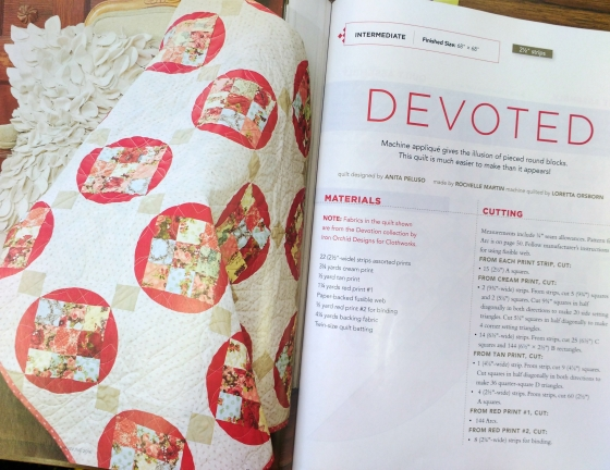 'Devoted' Quilt found in the May/June 2016 issue of Fons & Porter's Quilting Quickly magazine.