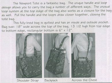 NewportTote 3 ways