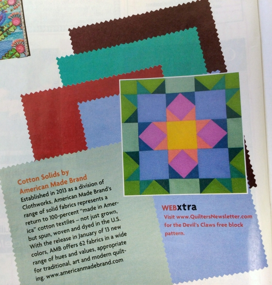 Quilters Newsletter AMB