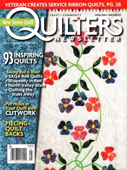 Quilters Newsletter cover