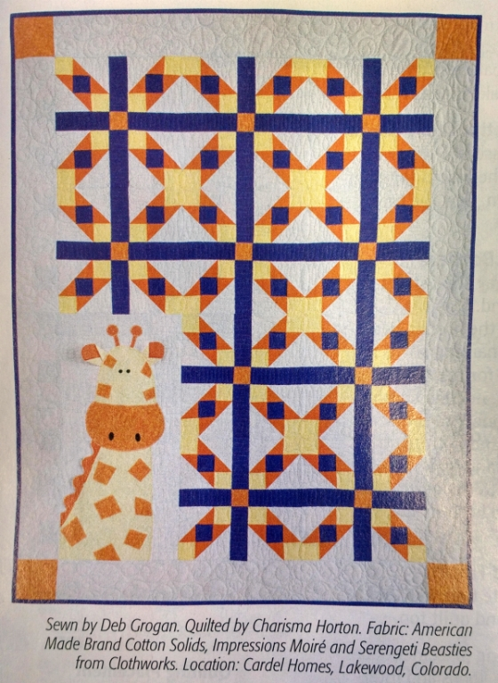Georgie Giraffe Quilt top